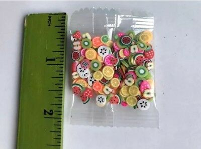 250 Fruit Fimo Slice per Packet, perfect for Slime Charms Resin Fast Shipping