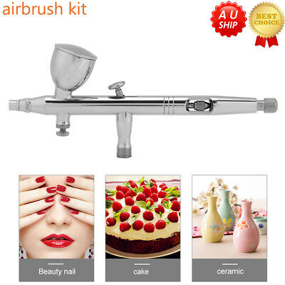 Dual Action Air Brush 0.2/0.3/0.5mm Airbrush Hose Spray Gun Paint Tattoo Kit AU