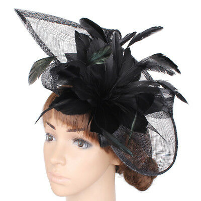 Lady Feather Headband and Clip Fascinator Hat Weddings Day Race Royal Ascot