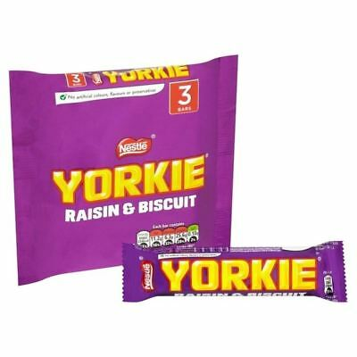 Nestle Yorkie Raisin And Biscuit 3 X 44g (Pack of 4)