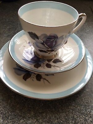 Vintage Windsor bone china Tea Cup/Saucer and side plate. Excellent condition