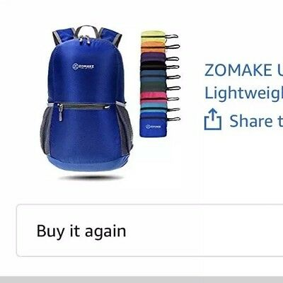 cd1db655ff7 ZOMAKE Ultra Lightweight Packable Backpack Water Resistant Hiking, Dark  Blue New