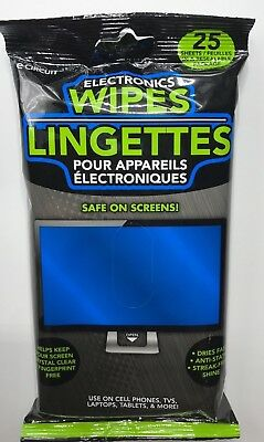 Electronic Wipes Safe For All Electronic Screens 25 Count