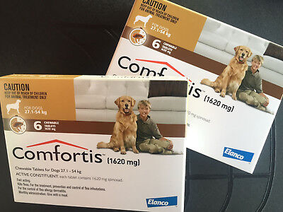 2 Boxes for Extra Large Dogs 60 - 120 lbs 12 Doses 12 Months Supply EXP 1/2020