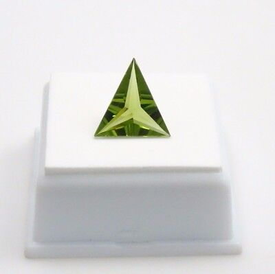 Moldavite - 3.64ct - Triangle -14x14.3mm - Olive Green Moldavite Loose Gemstone
