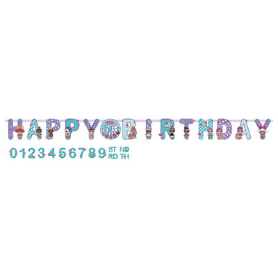 LOL Surprise Add An Age Jumbo Birthday Party Banner