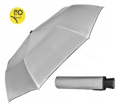 Mini Compact Folding Silver back Rain and Sun Shade Umbrella with UV Protection