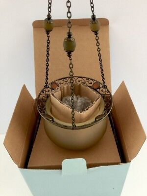 Partylite Paris Retro Hanging Sconce Wall Bracket Candle Holder Lamp ~ New