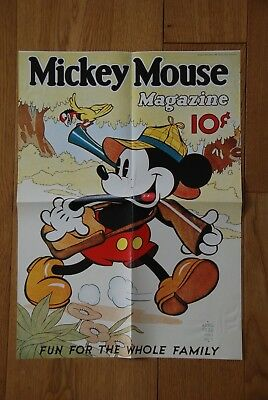 Mickey Mouse Magazine Nostalgie-Poster 1936 TOP-Zustand PAYPAL