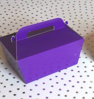 10 or more Large Single Cake Slice Boxes in Cream or 💜 Purple 💜