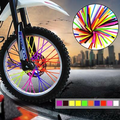 36Pcs Motorcycle Bicycle Wheel Spoked Protector Wraps Rims Skin Trim Covers Pipe