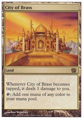 MTG 1x CITY OF BRASS - 8th Edition *Top Rare NM*