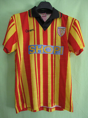 Maillot Racing Club de Lens Olympic Shopi RCL vintage jersey Football - 14 ans