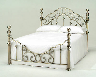 Harmony Florence Shabby Chic Vintage Luxury Antique Brass Finish Bed Frame