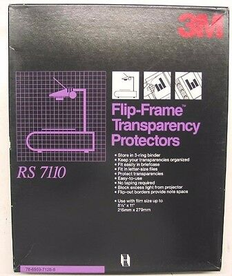 50 Sheets 3M Rs 7110 Flip-Frame Transparency Film Protectors Flip-Out Borders