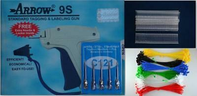 Arrow Standard 9S Tag Guns +6 Extra Needle +2000 White Barbs Fasteners Combo 15,