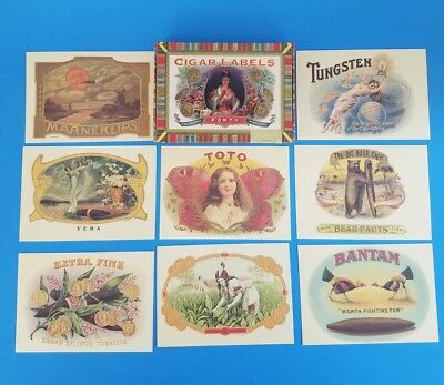 Set Of 40 Cigar Labels Postcards PC C. Stryker Lampe 1997 In Box