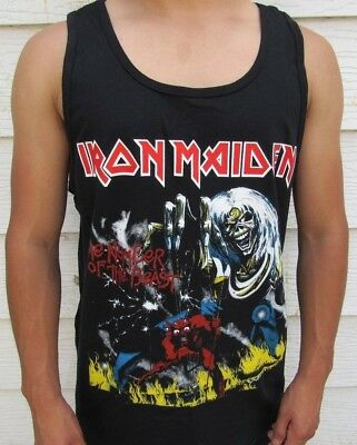 IRON MAIDEN THE NUMBER OF THE BEAST METAL ROCK MEN's TANK TOP SIZES