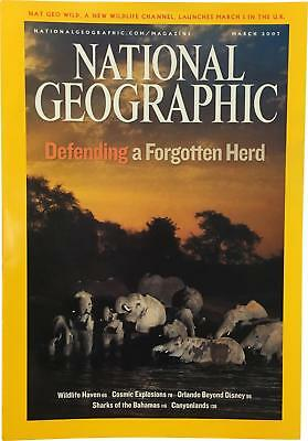 PRE-OWNED National Geographic March 2007 Geo Magazine CK309