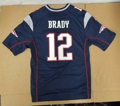 1f0a3f4b7 Nike New England Patriots Tom Brady Navy Super Bowl Lii Game Event Jersey  Men s