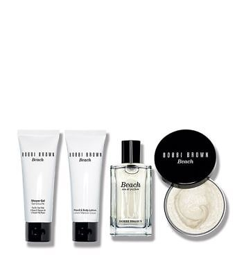 Bobbi Brown Beach Collection 4pc Set 1.7 oz Ea Perfume Lotion Shower Gel Scrub