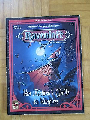 AD&D RAVENLOFT Van Richten´s Guide to Vampires #9345 English - TSR Dungeons Drag