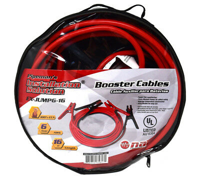 Jumper Booster Cables 16 ft 6 Gauge Heavy Duty Emergency Battery Starter
