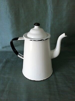 Antique 19th or Early 20th Century Toleware Coffee Pot
