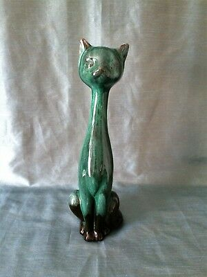 Vintage Evangeline Canadian Pottery Long Neck Large Cat