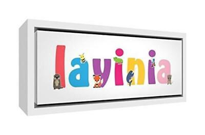 (TG. 19 x 46 x 3 cm) Little Helper LHV-LAVINIA-1542-FCWHT-15IT Stampa su Tela In