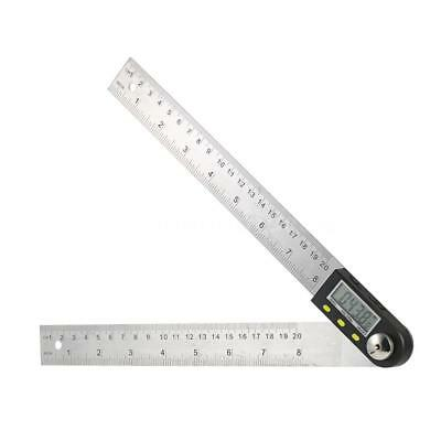 0-200mm Stainless Steel Ruler 360° Degree Digital Protractor Angle Finder Z4P5
