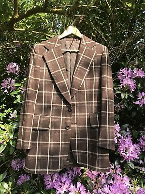 Super Stylish Original 1970s Vintage Mens Wool Plaid Blazer/Jacket