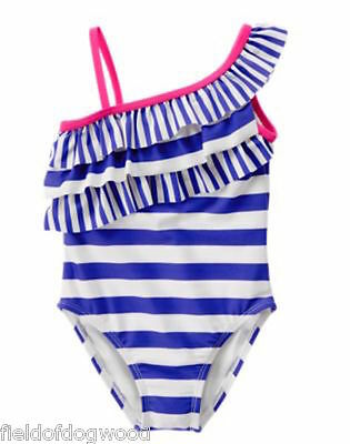 NWT Gymboree Sunny Day Blue Ruffle Swimsuit Toddler and Kid girls many sizes