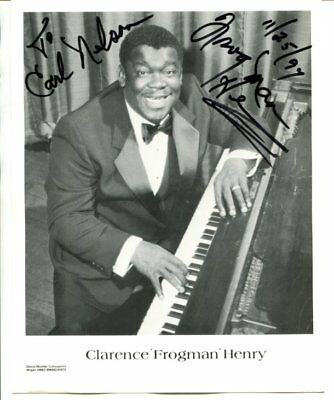 CLARENCE FROGMAN HENRY autograph HAND SIGNED 2440