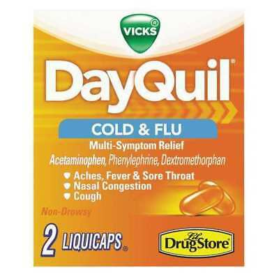 DAYQUIL 97047 DayQuil Cold and Flu Caplets,PK20