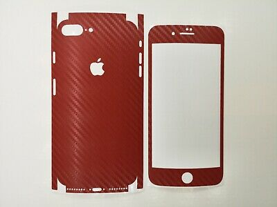 reputable site a1072 f796d CARBON FIBER RED Textured Vinyl Skin Wrap for Apple iPhone 8 Plus -  Dillowraps