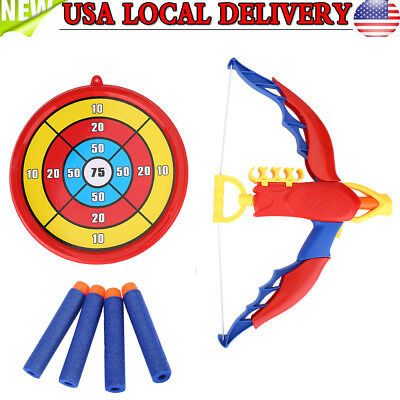 Kids Sport Toy Archery Bow And Arrow Set For Kids Fun Game + Arrows And Target