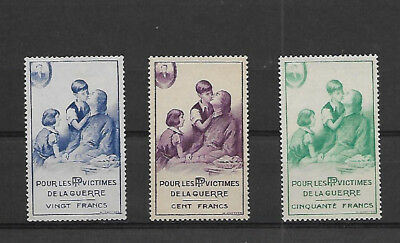 "France - ""for The Victims Of War "" Poster Stamps.  M.l.h."
