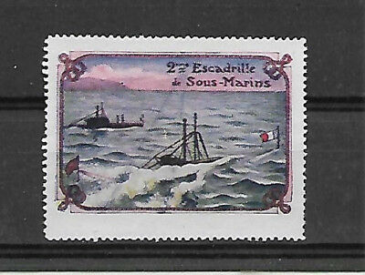 France Submarines - Escadrille Sous Marins. No Gum