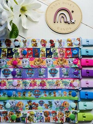 PAW PATROL/PEPPA PIG Dummy Clip/Pacifier Chain/Binky Band/Soother Baby Boy/Girl