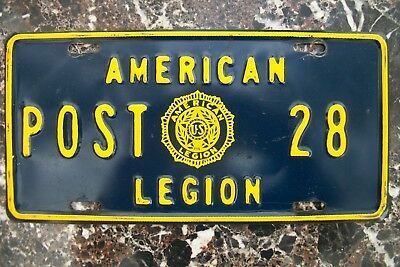 1960s AMERICAN LEGION LICENSE PLATE BOOSTER POST 28, CLIFTON ARIZONA GREENLEE CO