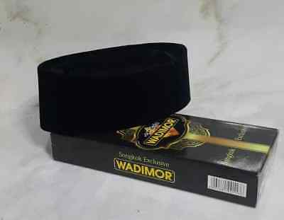 premium velvet islamic cap kufis songkok kopyah prayer for  man Wadimor black