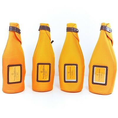 4 x Veuve Clicquot Champagne Insulated Ice Jacket Sleeve Bottle Cover Lot 750ML