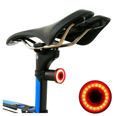 Smart Intelligent Sensor Bicycle Seatpost Rear Light Waterproof USB Brake Light