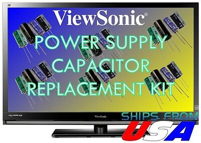Viewsonic Vx2835Wm Lcd Monitor Capacitors Repair Kit Psm217-404-H-R You Fix It!