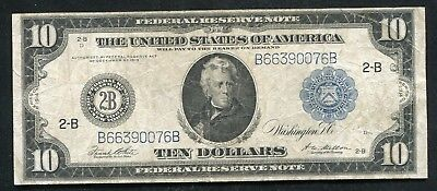 FR. 911c 1914 $10 TEN DOLLARS FRN FEDERAL RESERVE NOTE NEW YORK, NY VERY FINE