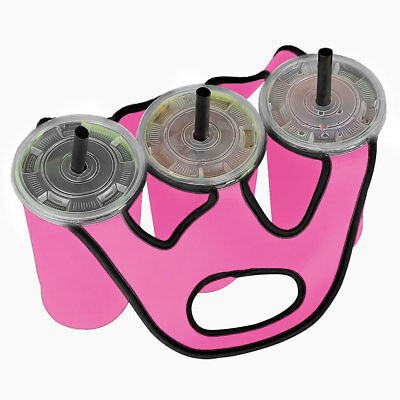 3 in 1 Insulated Bottle Cup Holder Carrier Tote Bag for Carrying Coffee Drink