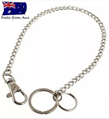 """""""30cm Wallet chain with clip And Rings"""" Steampunk biker Punk Key Nurse Hipster"""