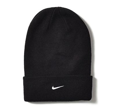 5c5472567d4 NIKE Unisex Stock Cuffed Knit Beanie Black Hat 384414-010 One Size -  14.90