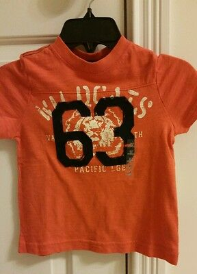 NWT - Toddler Boy's Arizona Orange Graphic Short Sleeve Tee Shirt - Size 3T